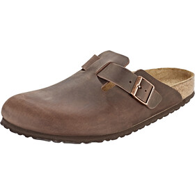 Birkenstock Boston Clogs cuero nobuk, habana